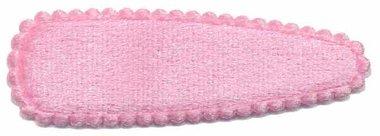 Haarkniphoesje fluweel licht roze 5 cm (ca. 100 stuks)