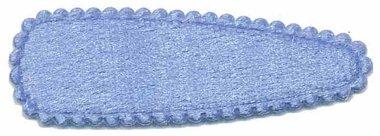 Haarkniphoesje fluweel licht blauw 5 cm (ca. 100 stuks)