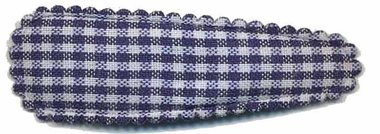 Haarknip met haarkniphoesje donker blauw-wit geruit 5 cm (ca. 100 stuks)