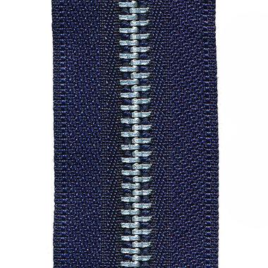 Metalen rits donker blauw #919 met aluminium tanden maat 5 (ca. 5 m)
