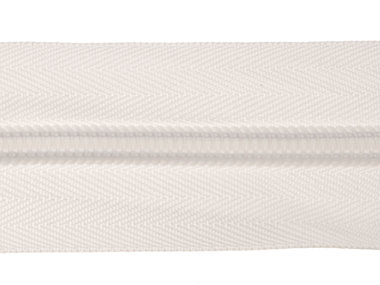 Nylon rits wit #501 maat 8 (ca. 5 m)