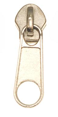Ritsvoetje / zwaantje / schuivertje zilverkleurig maat 8 (10 stuks)