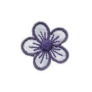 Applicatie bloem wit/donker blauw klein (10 stuks)