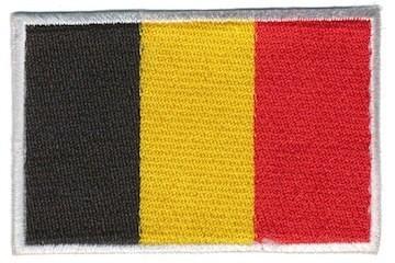 Opstrijkbare applicatie Belgische vlag (5 stuks)