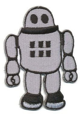 Opstrijkbare applicatie robot (5 stuks)