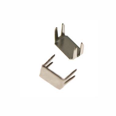 Eindstop voor nylon rits zilverkleurig maat 8 (ca. 50 stuks)