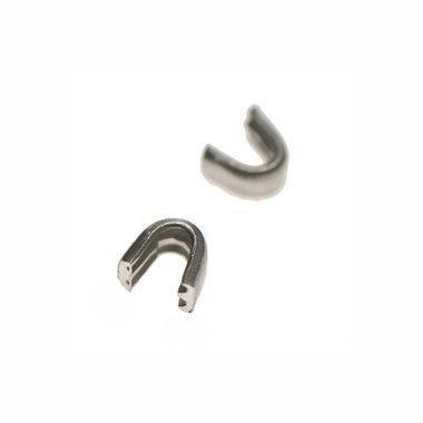 Beginstop voor nylon rits zilverkleurig maat 8 (ca. 50 sets)