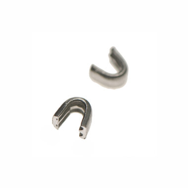 Beginstop voor nylon rits zilverkleurig maat 5 (ca. 50 sets)