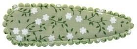 Haarkniphoesje groen met witte bloemetjes 5 cm (ca. 100 stuks)
