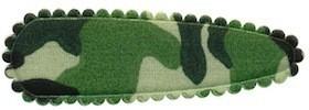 Haarkniphoesje camouflageprint groen 5 cm (ca. 100 stuks)