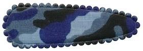 Haarkniphoesje camouflageprint blauw 5 cm (ca. 100 stuks)
