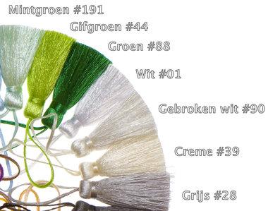 Kwastje 40 mm limegroen #44 (10 stuks)
