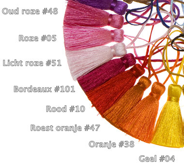 Kwastje 40 mm roze #05 (10 stuks)