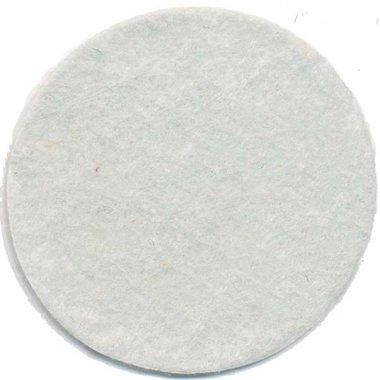 Vilten schijfje wit ca. 50 mm (ca. 100 stuks)