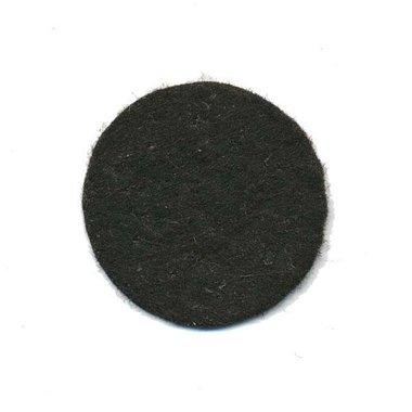 Vilten schijfje zwart ca. 30 mm (ca. 100 stuks)