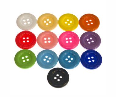 Knoop groot mix kleuren 35 mm (ca. 144 stuks)