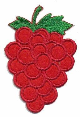Applicatie tros druiven rood (5 stuks)