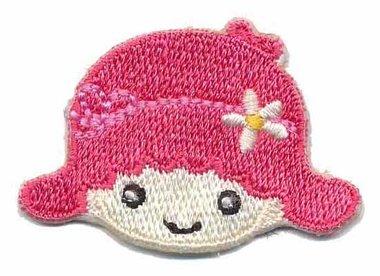 Applicatie meisje roze (5 stuks)
