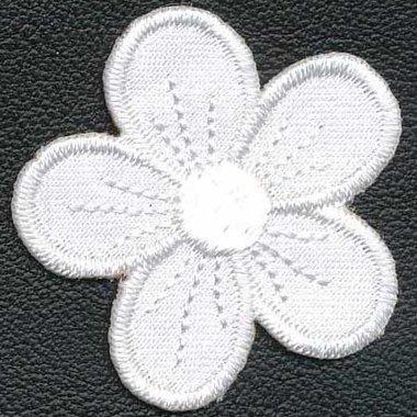 Applicatie bloem wit (10 stuks)
