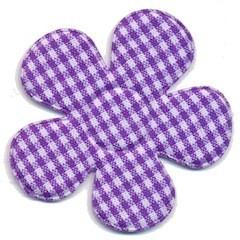Applicatie ruitjes bloem paars groot 45 mm (ca. 25 stuks)