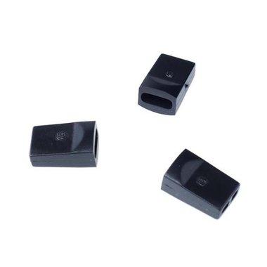 Eindstopper met 2 gaten zwart (ca. 50 stuks)