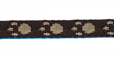 Tassenband 10 mm pootje bruin/zand (ca. 5 m)