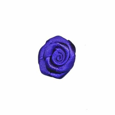 Roosje satijn kobalt blauw 20 mm (ca. 25 stuks)