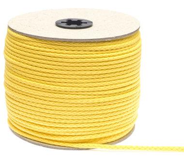 Katoenen koord geel 5 mm (ca. 100 m)