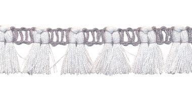 Band met kwastjes grijs-gebroken wit 15 mm (ca. 16 meter)