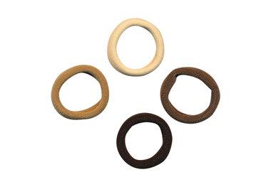 Haarelastiek endless creme/zand/bruin/zwart 2,5 cm (ca. 100 stuks)