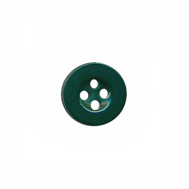 Knoop met 4 gaten flessengroen 10 mm (ca. 100 stuks)
