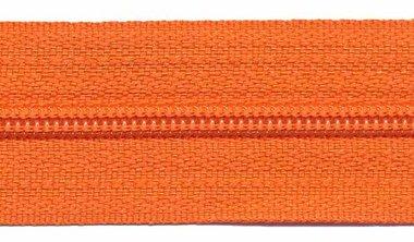 Nylon rits oranje #523 maat 3 (ca. 5 m)