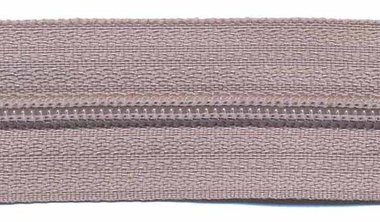 Nylon rits licht grijs #336 maat 3 (ca. 5 m)