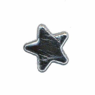 Applicatie glim ster zilver klein 25 mm (ca. 100 stuks)
