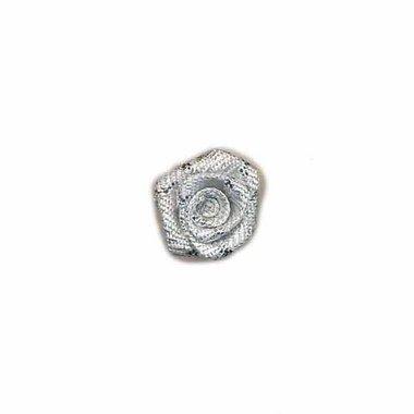 Roosje zilver 15 mm (ca. 25 stuks)