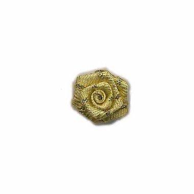 Roosje goud 15 mm (ca. 25 stuks)