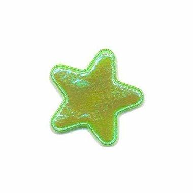 Applicatie glim ster groen klein 25 mm (ca. 100 stuks)