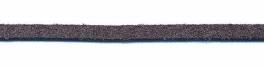 Imitatie suede veter donker grijs 3 mm (ca. 10 m)