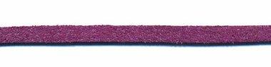 Imitatie suede veter paars 3 mm (ca. 10 m)