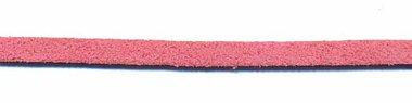 Imitatie suede veter oud roze 3 mm (ca. 10 m)