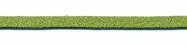 Imitatie suede veter groen 3 mm (ca. 10 m)