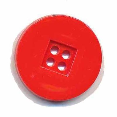 Knoop retro rood 25 mm (ca. 25 stuks)