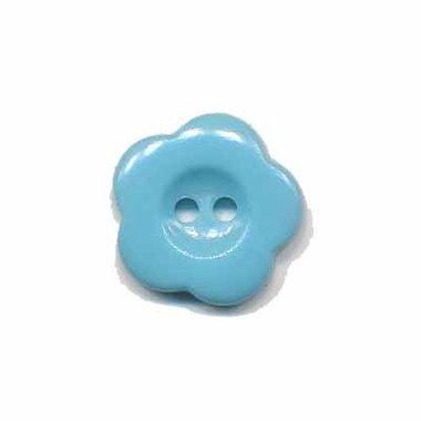 Bloemknoop licht blauw 15 mm (ca. 50 stuks)
