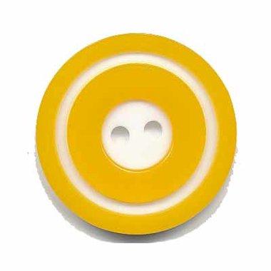 Knoop 'donut' groot geel 25 mm (ca. 25 stuks)