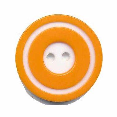Knoop 'donut' groot oranje 25 mm (ca. 25 stuks)