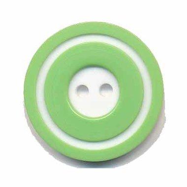 Knoop 'donut' groot groen 25 mm (ca. 25 stuks)