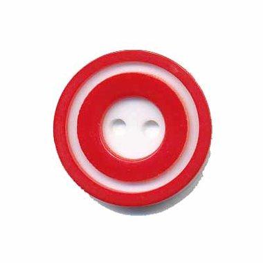 Knoop 'donut' middel rood 20 mm (ca. 25 stuks)