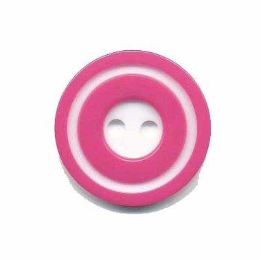 Knoop 'donut' middel fuchsia 20 mm (ca. 25 stuks)