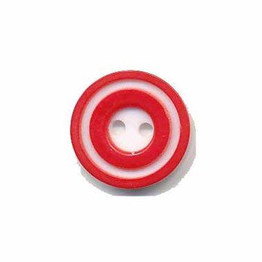 Knoop 'donut' klein rood 15 mm (ca. 50 stuks)