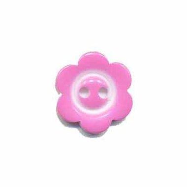 Bloemknoop met rand licht roze 15 mm (ca. 50 stuks)